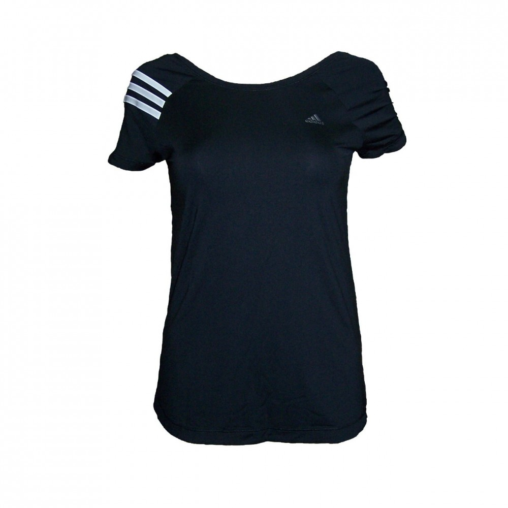 adidas climacool fitnessshirt laufshirt t shirt f r damen schwarz xs s m l ebay. Black Bedroom Furniture Sets. Home Design Ideas