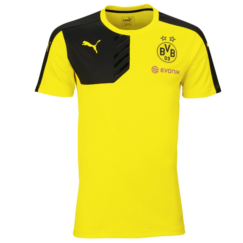 puma 747935 bvb borussia dortmund trainings trikot 2015. Black Bedroom Furniture Sets. Home Design Ideas