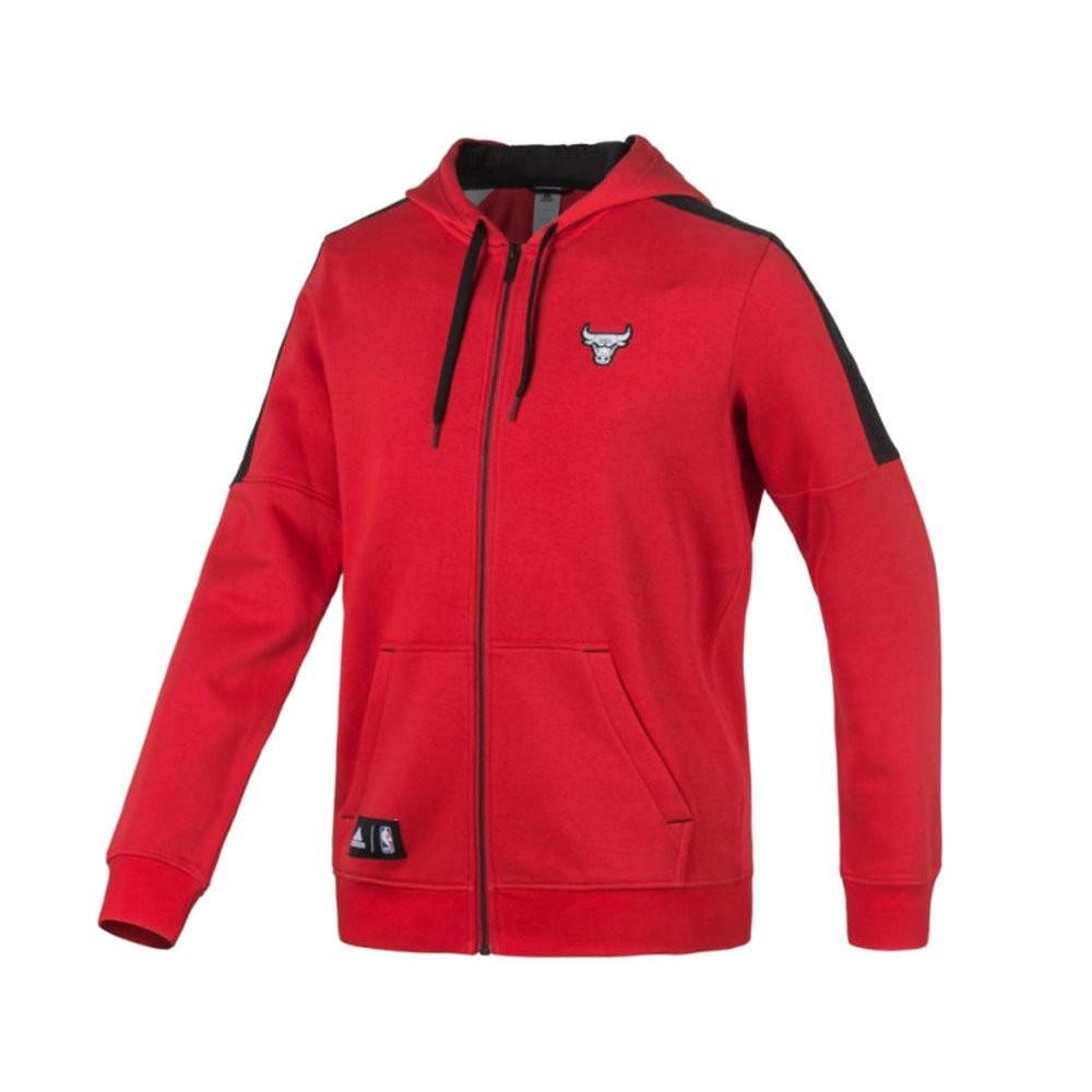 adidas chicago bulls full zip fleece hoodie herrenbekleidung jacken. Black Bedroom Furniture Sets. Home Design Ideas