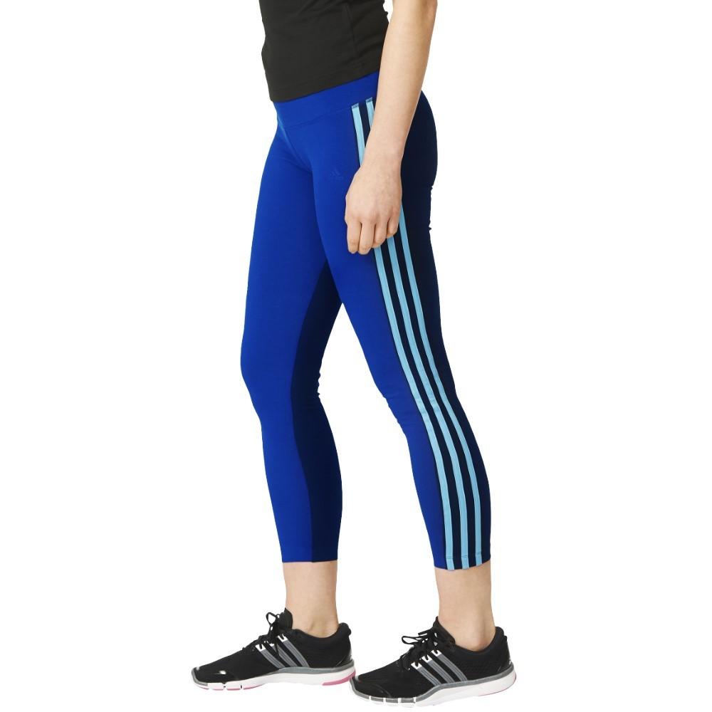 adidas ess 3s cb performance fitness tight blau damen damenbekleidung hosen. Black Bedroom Furniture Sets. Home Design Ideas