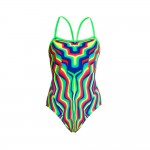 Funkita Damen Badeanzug Single Strap One Piece Warrior Stripe