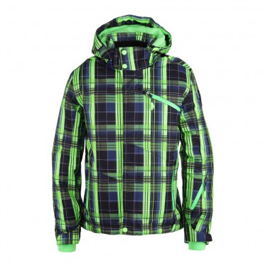 Killtec Jegor Jr Checker Kinder Funktionsjacke mit abzipbarer Kapuze